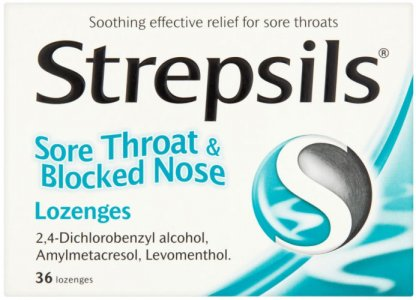 Strepsils Lozenges Sore Throat & Blocked Nose Pack of 36