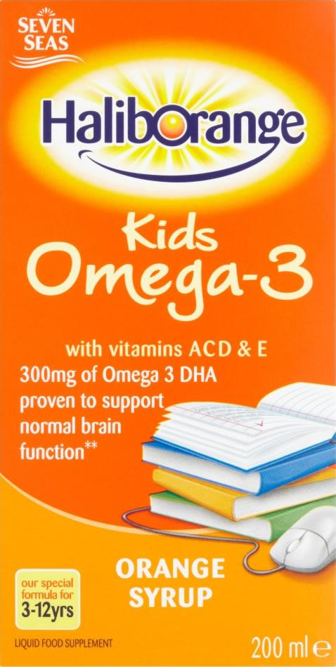 Haliborange Kids Omega 3 Orange Flavour Syrup 200ml x 3