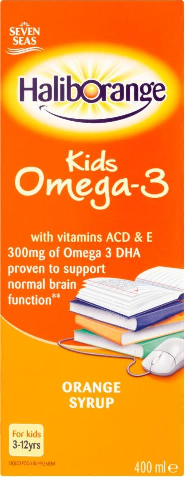Haliborange Kids Omega 3 Orange Flavour Syrup 400ml x 3