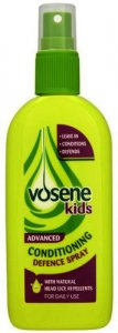 Vosene Kids 3-in-1 Headlice Repellent and Detangler Spray 150ml