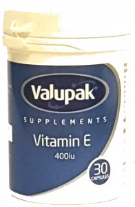 Valupak Vitamin E 400iu Capsules Pack of 30