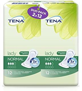 TENA Lady Normal Duo Pack of 12 (24)