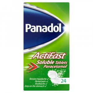 Panadol Actifast Soluble Tablets Pack of 24
