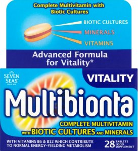 Seven Seas Multibionta Vitality Tablets Pack of 28