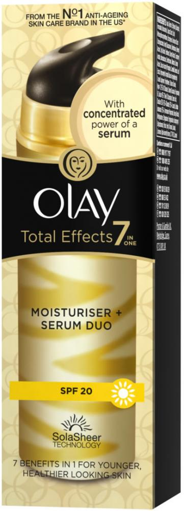 Olay Total Effects Moisturiser & Serum Duo 50ml