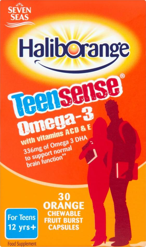 Haliborange Teensense Omega 3 Chewable Pack of 30 x 3