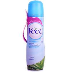 Veet Spray-on Hair Removal Cream For Sensitive Skin 150ml