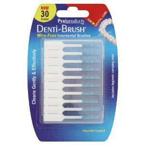 Denti-brush Interdental Brushes Wire Free Pack of 30