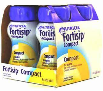 Fortisip Compact Vanilla 125ml Pack of 4