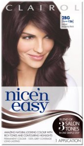 Clairol Nice n Easy Natural Burgundy Black 2BG (formerly 126)