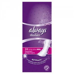 Always Dailies Long Plus Liners Pack of 24