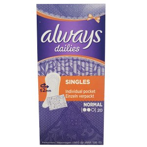 Always Dailies Singles Normal Pack of 20