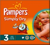 Pampers Simply Dry Midi (3) Pack of 30