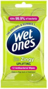 Wet Ones Be Zingy Uplifting Wipes Pack of 12
