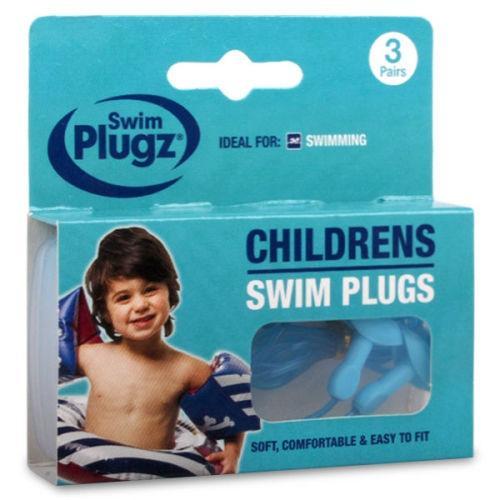 Swim Plugz Child Swimming Earplugs 3 Pairs