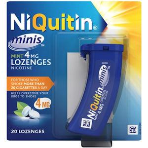 Niquitin Minis 4mg Mint Pack of 20