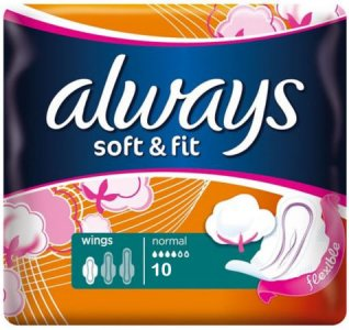 Always Soft & Fit Normal Plus Pack of 10