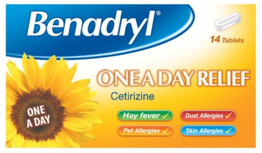 Benadryl One A Day 10mg Tablets Pack of 14