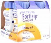 Fortisip Compact Apricot 125ml Pack of 4
