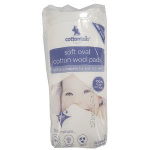 Cottontails Soft Oval Cotton Wool Pads Pack of 60