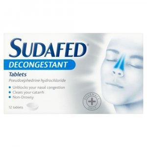 Sudafed Decongestant tablets Pack of 12