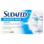 Sudafed Blocked Nose Capsules Pack of 24