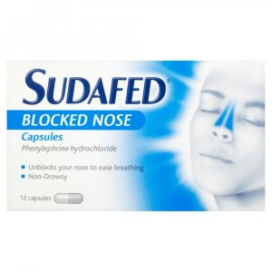 Sudafed Blocked Nose Capsules Pack of 12