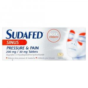 Sudafed Sinus Pressure & Pain Tablets Pack of 12