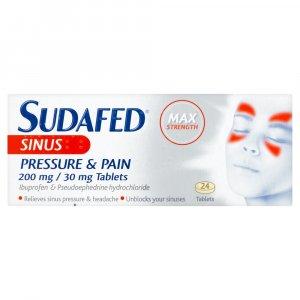 Sudafed Sinus Pressure & Pain Tablets Pack of 24