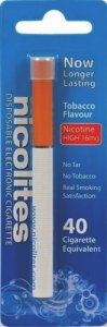 Nicolites Disposable Electronic Cigarette Tobacco High 40