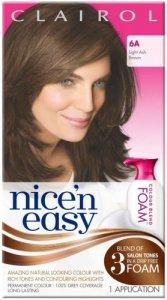 Clairol Nice n Easy Colour Blend Foam Light Ash Brown 6A