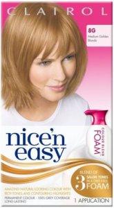 Clairol Nice n Easy Colour Blend Foam Medium Golden Blonde 8G