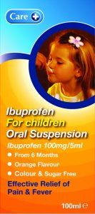 Care Ibuprofen For Children Oral Suspension 100ml