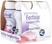 Fortisip Compact Fibre Strawberry 125ml Pack of 4