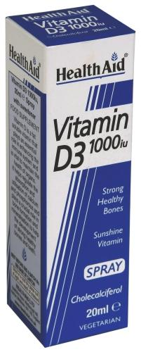 HealthAid Vitamin D3 1000iu Spray 20ml