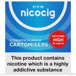 Nicocig Refills High Strength 16mg Tobacco Flavour Pack of 3 (30 Packs)