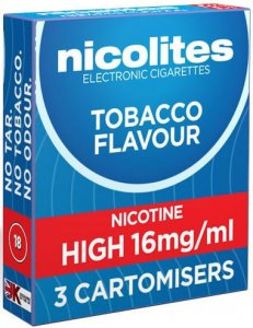 Nicolites Refills High Strength Tobacco Flavour Pack of 3