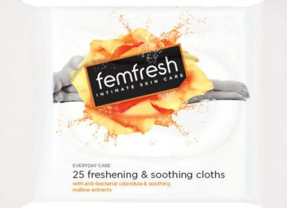 Femfresh Freshening & Soothing Wipes Pack of 25