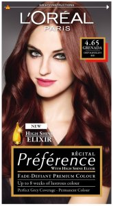 L'Oreal Preference Grenada Deep Mahogany Red 4.65
