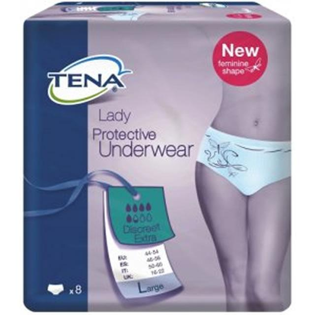 TENA Lady Discreet Extra Large Pack of 8