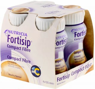 Fortisip Compact Fibre Mocha 125ml Pack of 4