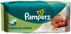 Pampers Baby Wipes Natural Clean Pack of 64