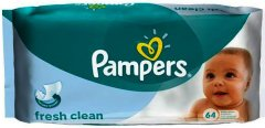 Pampers Baby Wipes Fresh Clean Pack of 64