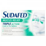 Sudafed Mucus Relief Triple Action Tablets Pack of 16