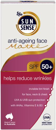 Sunsense Anti-aging Face Matte Sun Cream SPF50+ 100ml