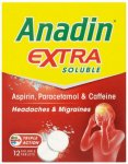 Anadin Extra Soluble Tablets Pack of 12