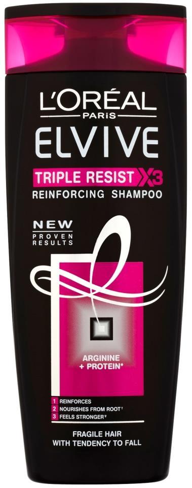 L'Oreal Elvive Triple Resist Reinforcing Shampoo 250ml