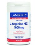Lamberts L-Arginine HCI Tablets 1000mg Pack of 90