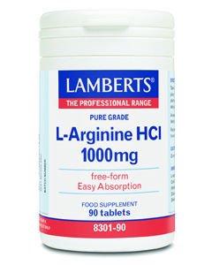 Lamberts L-Arginine HCI Tablets 1000mg Pack of 90
