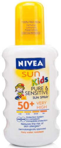 Nivea Sun Pure & Sensitive Kids Spray SPF50+ 200ml